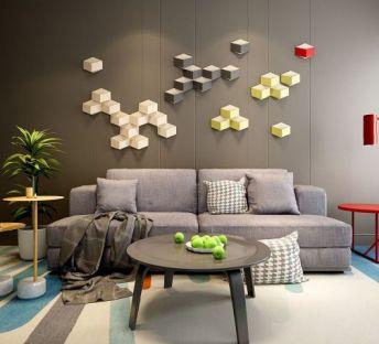 现代超简约沙发壁灯组合