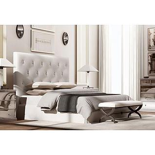 美式床具3d模型