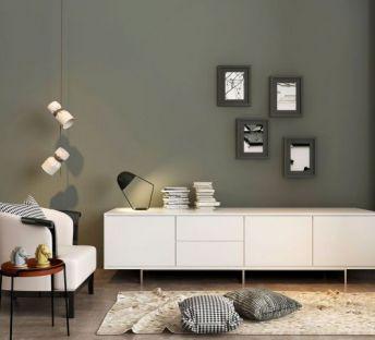 沙发创意吊灯电视柜组合