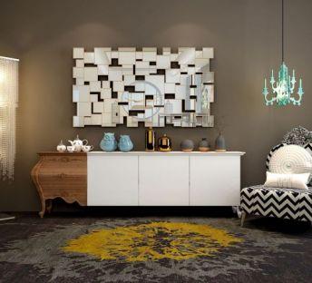 现代电视柜椅子壁灯组合