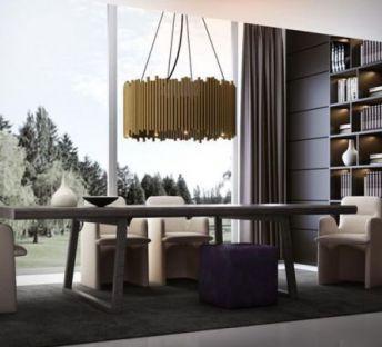 现代简奢餐桌椅吊灯
