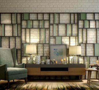 现代电视柜沙发屏风组合