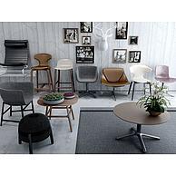 现代餐椅休闲椅办公椅组合3D模型3d模型