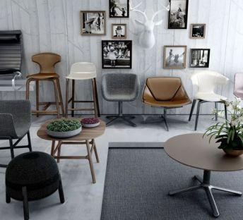 现代餐椅休闲椅办公椅组合