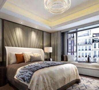 现代床具床头柜组合