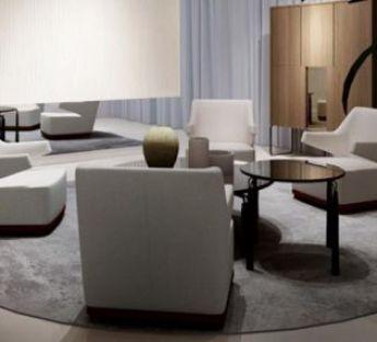 现代酒店休闲沙发茶几组合