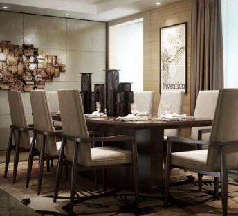 现代墙饰品餐桌椅组合