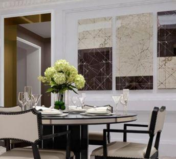 现代新古典餐桌椅