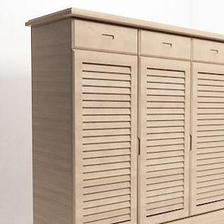 木质透气鞋柜3d模型