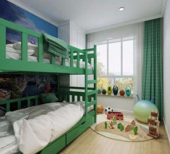 美式地中海儿童房双层床
