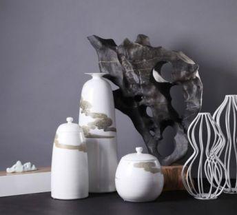 中式假山瓶子饰品