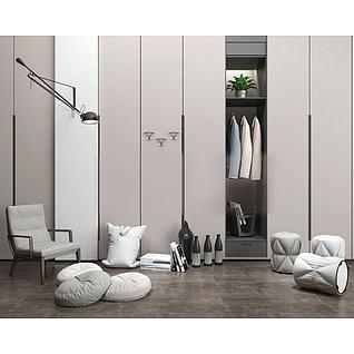 现代休闲沙发椅3d模型3d模型