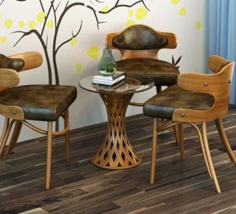 创意藤编茶桌椅组合