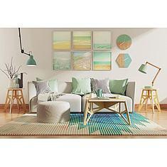 创意现代沙发茶几挂钟3D模型3d模型