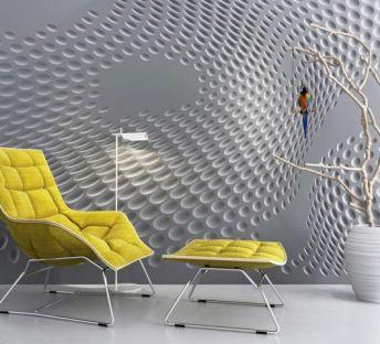 创意背景墙枯树枝休闲躺椅