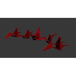 纸鹤3d模型