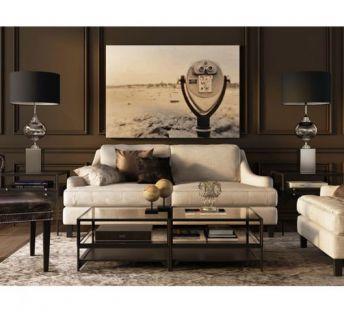 美式奢华客厅沙发椅组合