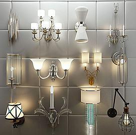 现代欧式壁灯组合模型