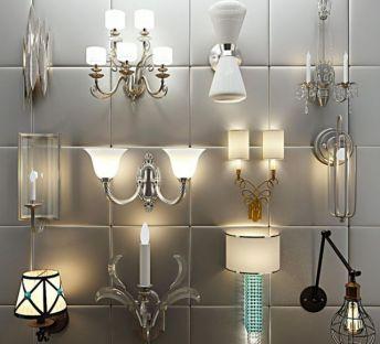 现代欧式壁灯组合