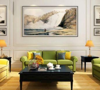 现代古典沙发茶几