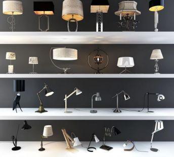 现代欧式时尚台灯组合