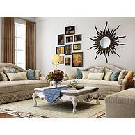 现代欧式沙发茶几墙饰品3D模型3d模型