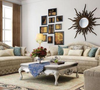 现代欧式沙发茶几墙饰品