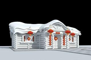 雪雕3d模型