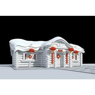 雪雕3d模型3d模型