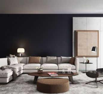 北欧现代沙发休闲椅组合