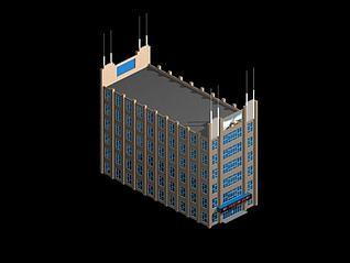 快捷酒店3d模型