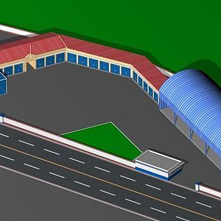 维修厂3d模型