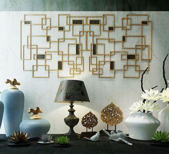 现代新中式花艺挂饰组合