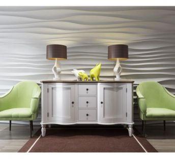 现代造型墙边柜椅子组合