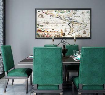 简美古典新中式餐桌椅