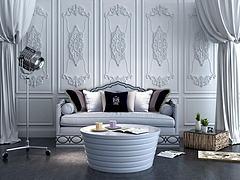 简欧双人沙发茶几组合模型3d模型