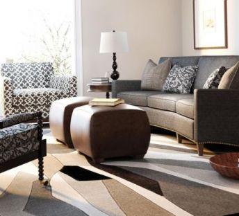 现代美式客厅沙发椅子组合