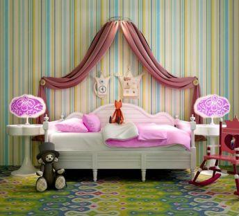 公主系列女孩床