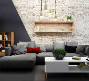 现代风格转角沙发茶几