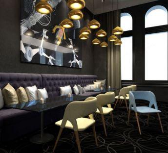 餐厅座椅吊灯组合