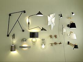超简约壁灯组合模型