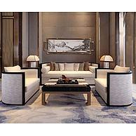 新中式沙发茶几组合3D模型3d模型