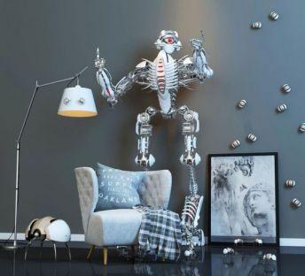 休闲沙发机器人玩具组合