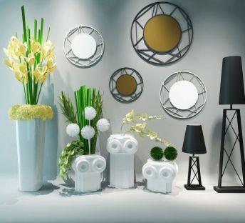 现代挂件花艺墙饰组合