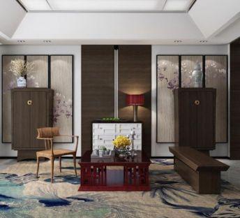 新中式椅子茶几组合