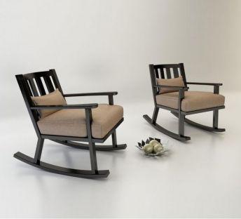 中式休闲摇椅