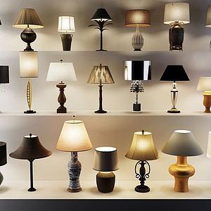 现代中式花瓶灯模型