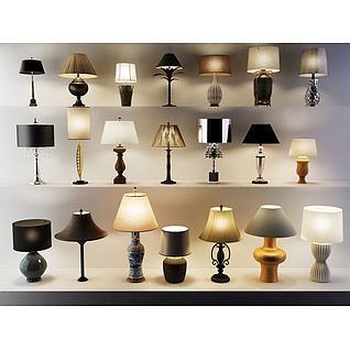 现代中式花瓶灯3d模型