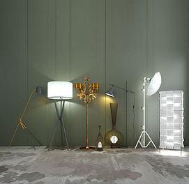 创意落地灯组合模型
