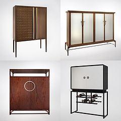 现代装饰柜边柜组合3D模型3d模型